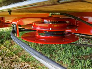 Close up of hydraulic assembly