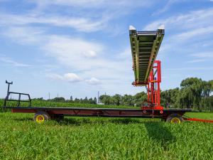 Conveyor harvest wagon.